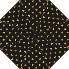 Shapes Abstract Triangles Pattern Hook Handle Umbrellas (Medium)