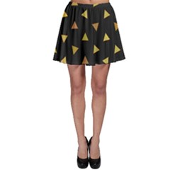 Shapes Abstract Triangles Pattern Skater Skirt