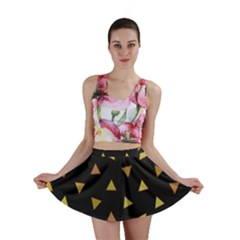 Shapes Abstract Triangles Pattern Mini Skirt