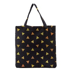Shapes Abstract Triangles Pattern Grocery Tote Bag