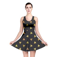 Shapes Abstract Triangles Pattern Reversible Skater Dress