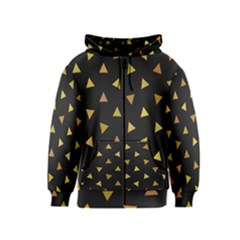 Shapes Abstract Triangles Pattern Kids  Zipper Hoodie