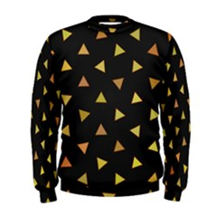 Shapes Abstract Triangles Pattern Men s Sweatshirt