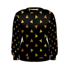 Shapes Abstract Triangles Pattern Women s Sweatshirt