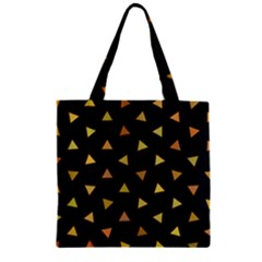 Shapes Abstract Triangles Pattern Zipper Grocery Tote Bag