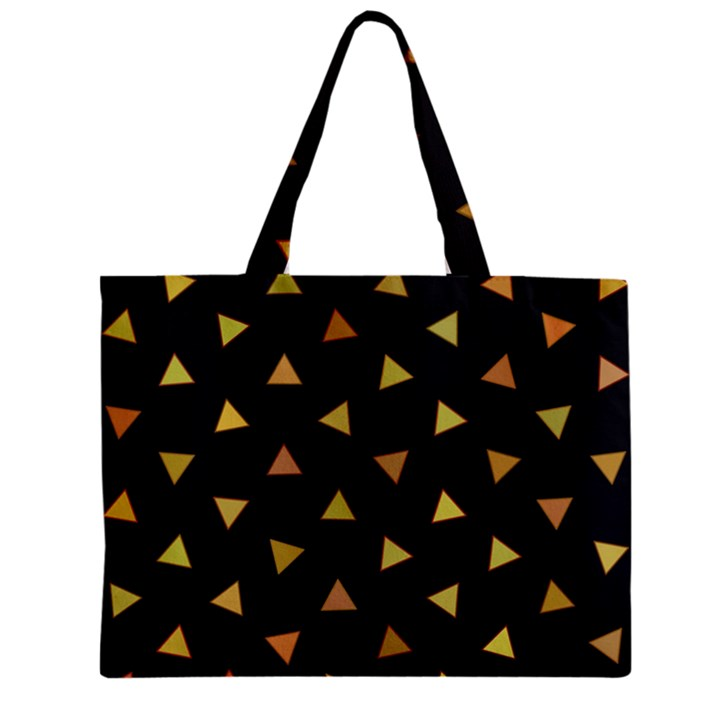Shapes Abstract Triangles Pattern Zipper Mini Tote Bag
