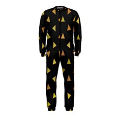 Shapes Abstract Triangles Pattern OnePiece Jumpsuit (Kids)