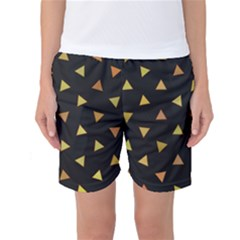 Shapes Abstract Triangles Pattern Women s Basketball Shorts