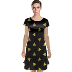Shapes Abstract Triangles Pattern Cap Sleeve Nightdress