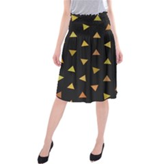Shapes Abstract Triangles Pattern Midi Beach Skirt