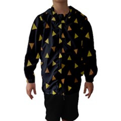 Shapes Abstract Triangles Pattern Hooded Wind Breaker (Kids)