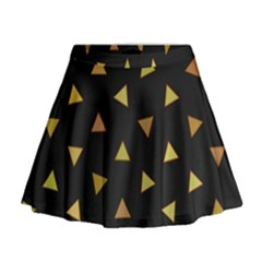 Shapes Abstract Triangles Pattern Mini Flare Skirt