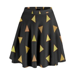 Shapes Abstract Triangles Pattern High Waist Skirt