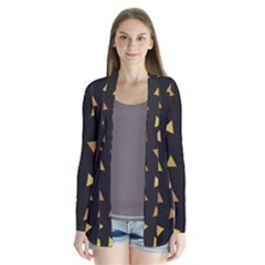 Shapes Abstract Triangles Pattern Cardigans