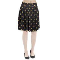 Shapes Abstract Triangles Pattern Pleated Skirt