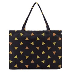 Shapes Abstract Triangles Pattern Medium Zipper Tote Bag