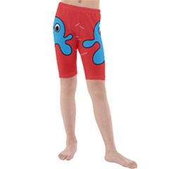 Creature Forms Funny Monster Comic Kids  Mid Length Swim Shorts