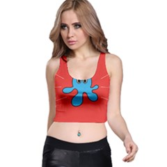 Creature Forms Funny Monster Comic Racer Back Crop Top