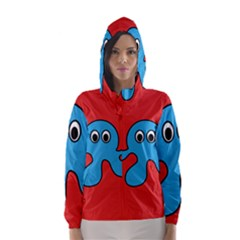 Creature Forms Funny Monster Comic Hooded Wind Breaker (women)