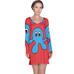 Creature Forms Funny Monster Comic Long Sleeve Nightdress