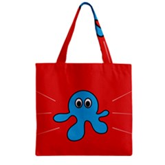 Creature Forms Funny Monster Comic Zipper Grocery Tote Bag