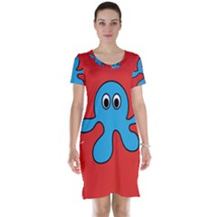 Creature Forms Funny Monster Comic Short Sleeve Nightdress