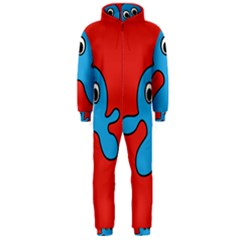 Creature Forms Funny Monster Comic Hooded Jumpsuit (men)