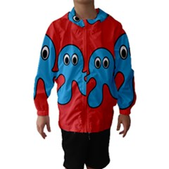 Creature Forms Funny Monster Comic Hooded Wind Breaker (Kids)