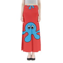 Creature Forms Funny Monster Comic Maxi Skirts