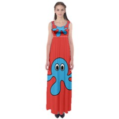 Creature Forms Funny Monster Comic Empire Waist Maxi Dress