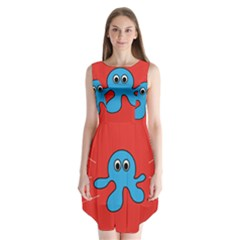 Creature Forms Funny Monster Comic Sleeveless Chiffon Dress