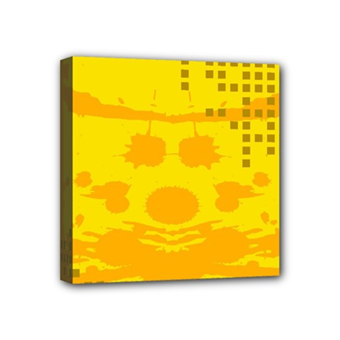 Texture Yellow Abstract Background Mini Canvas 4  x 4