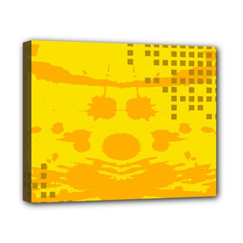 Texture Yellow Abstract Background Canvas 10  x 8