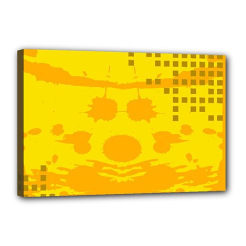 Texture Yellow Abstract Background Canvas 18  x 12
