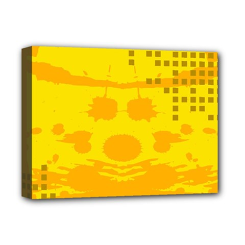 Texture Yellow Abstract Background Deluxe Canvas 16  x 12