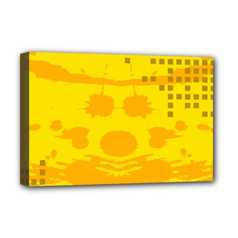 Texture Yellow Abstract Background Deluxe Canvas 18  x 12
