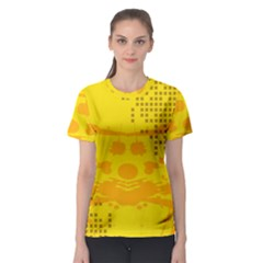 Texture Yellow Abstract Background Women s Sport Mesh Tee
