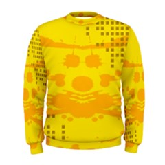 Texture Yellow Abstract Background Men s Sweatshirt