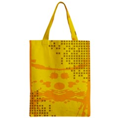 Texture Yellow Abstract Background Zipper Classic Tote Bag