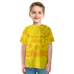 Texture Yellow Abstract Background Kids  Sport Mesh Tee