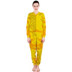 Texture Yellow Abstract Background OnePiece Jumpsuit (Ladies)