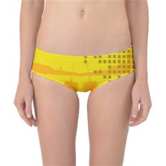 Texture Yellow Abstract Background Classic Bikini Bottoms
