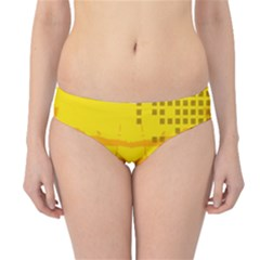 Texture Yellow Abstract Background Hipster Bikini Bottoms