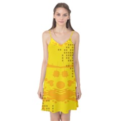 Texture Yellow Abstract Background Camis Nightgown