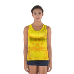 Texture Yellow Abstract Background Women s Sport Tank Top