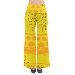 Texture Yellow Abstract Background Pants