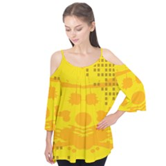 Texture Yellow Abstract Background Flutter Tees