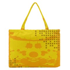 Texture Yellow Abstract Background Medium Zipper Tote Bag