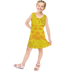 Texture Yellow Abstract Background Kids  Tunic Dress