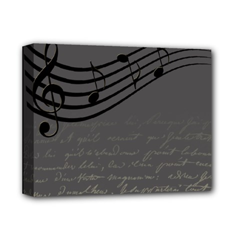 Music Clef Background Texture Deluxe Canvas 14  x 11